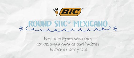 banner de plumas bic round Stic
