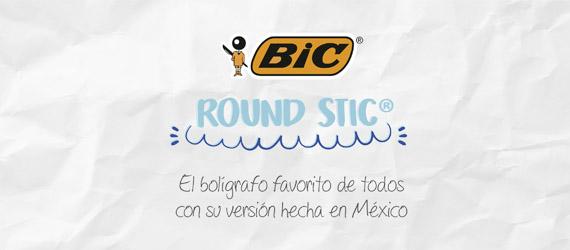 banner de plumas bic Round Stic Mexicano